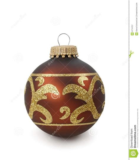 brown christmas ornament royalty free stock photography