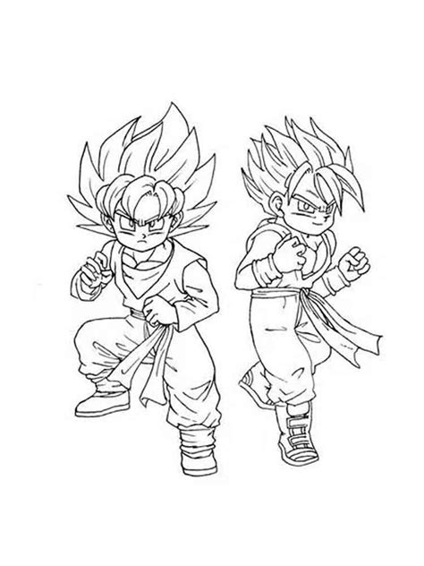 sy goten colouring pages sketch coloring page
