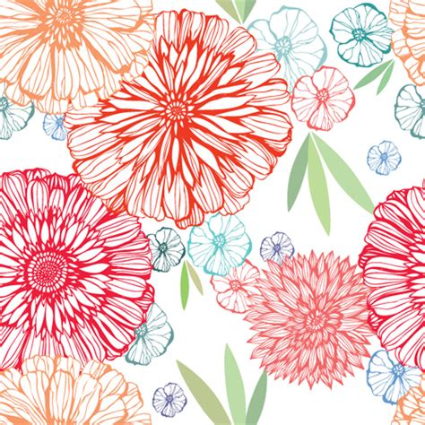 flower pattern vector graphics vivid flower pattern design vector graphic 03 vector