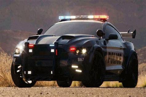 Jam Tangan Transformer Trendy ford mustang disulap jadi mobil polisi di transformers