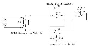 dc motor reversing circuit limit switch google search