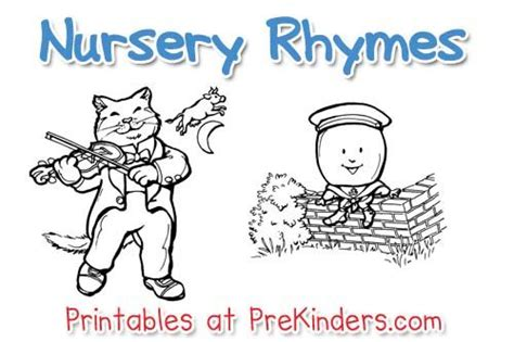 printable free nursery rhymes nursery rhyme printables