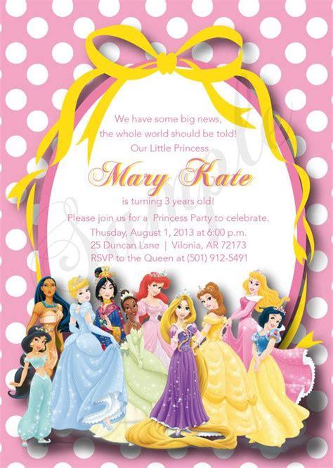 disney princess 1st birthday invitations 255 best 5 year birthday images on