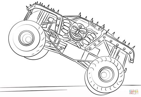 coloring pictures monster trucks max d monster truck cartoon coloring page cartoon