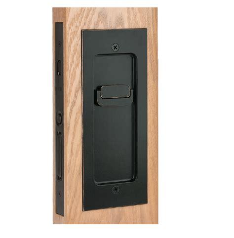 Oil Rubbed Bronze Kitchen Cabinet Hardware emtek 2113 modern rectangular keyed pocket door mortise