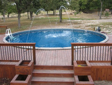 Above Ground Pool Deck Cost Inexpensive Options Embassy