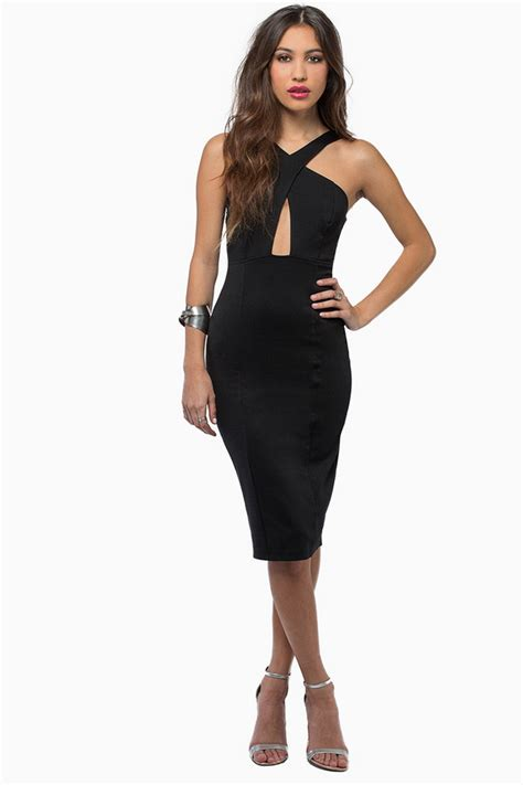 back in the rotation new dress tobi in rotation midi dress in black lyst