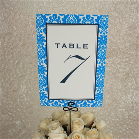 Table Numbers Template Wedding Table Number Templates Rococo Design Download
