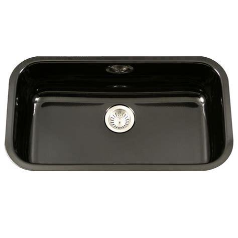 large single bowl kitchen sink houzer porcela series undermount porcelain enamel steel 31