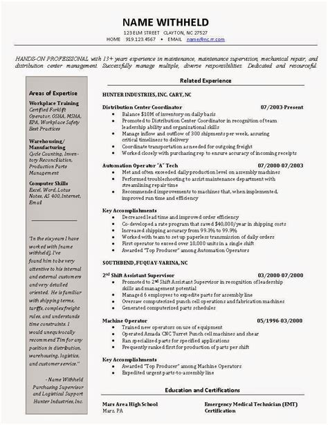 Excellent Resume Exle by Resume 2016