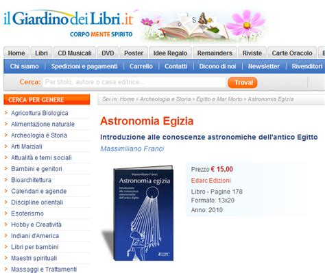 il giardino dei libri it astronomia egizia