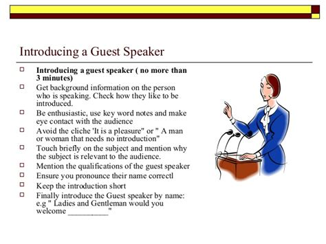 introducing a guest speaker template event management