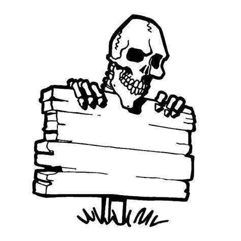 doodskop tekenen leuk voor kids een skelet