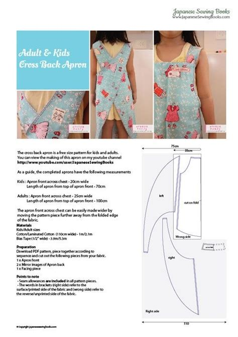 free pattern japanese apron japanese apron crafts sewing pinterest