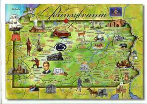 where is pa on a map usa pennsylvania remembering letters and postcards