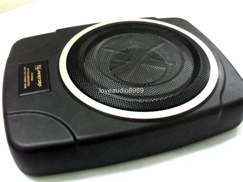 Speaker Subwoofer Slim Slim 10 Quot Active Subwoofer Lifier Sub For Car Player Ebay