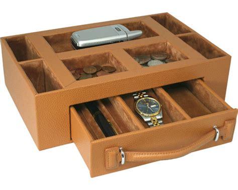 Leather Dresser Valet by Genuine Leather Dresser Valet In Bedside Storage