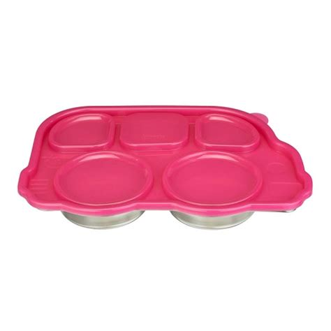 Innobaby Din Din Smart With Lid Pink T2909 baby in the city innobaby dindin smart stainless platter with sectional lid pink 이노베이비