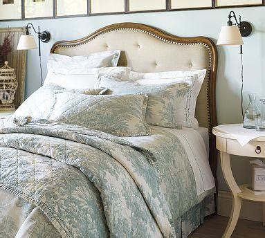 pottery barn upholstered bed gabriella upholstered headboard pottery barn