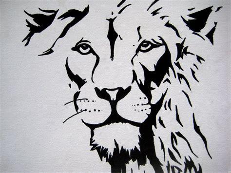 stencil pattern artists stencil art faces cute lion stencil lion face ink by