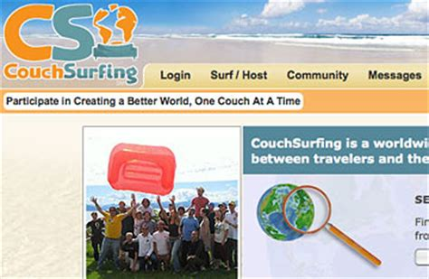best couch surfing sites couchsurfing 50 best websites 2009 time