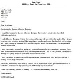 Sle Of Letter Of Agreement For Interior Design Interior Designer Cover Letter Exle Icover Org Uk
