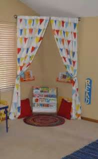 Reading Corner by Reading Nook Rounded Rod With Pink Curtains Tied Back