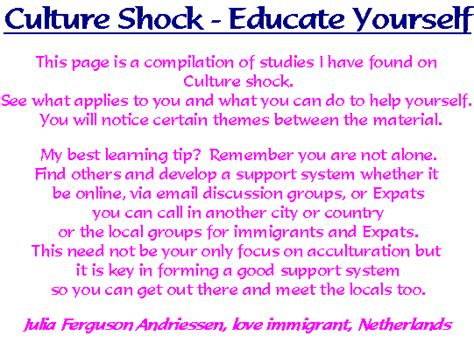 Culture Shock Essay by Culture Shock Educate Yourself