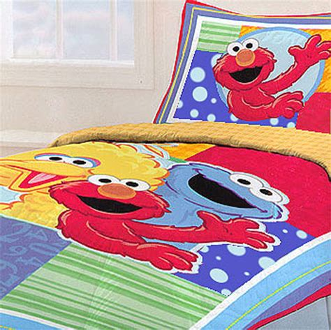 sesame street elmo kids twin bedding comforter sham set ebay