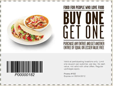 Chipotle Mexican Grill Coupons Printable   2017   2018