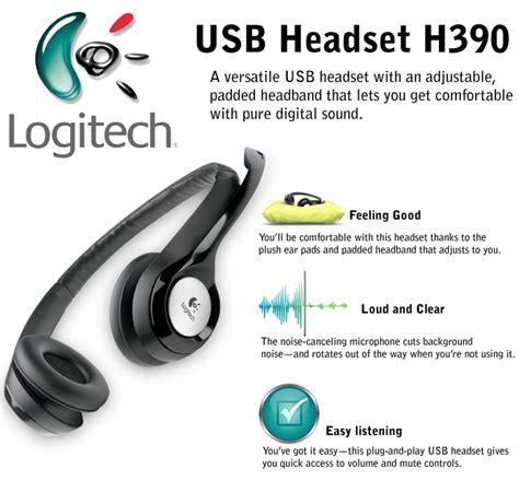 Logitech Usb Headset H390 Headphone With Mic Logitech Usb Headset H390 Openpinoy