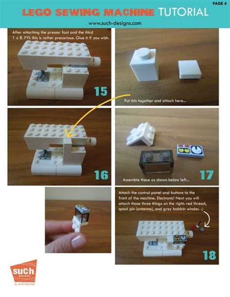 tutorial lego machine suchity such lego sewing machine tutorial lego bricks