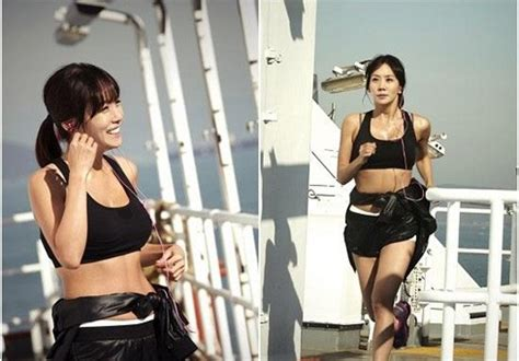 film korea hot shot kim jung eun shot exercising in bra top and hot pant