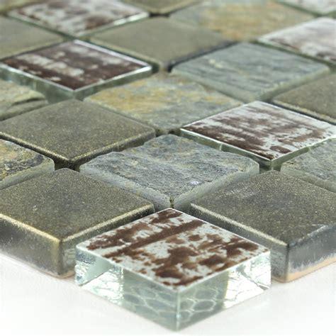 fliese rost quarzit glas mosaik fliese rost tm33164m