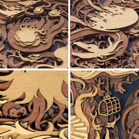 laser woodworking multi layered wood laser cut fubiz media