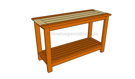 Sofa Table Plans by Console Table Plans Howtospecialist How To Build Step