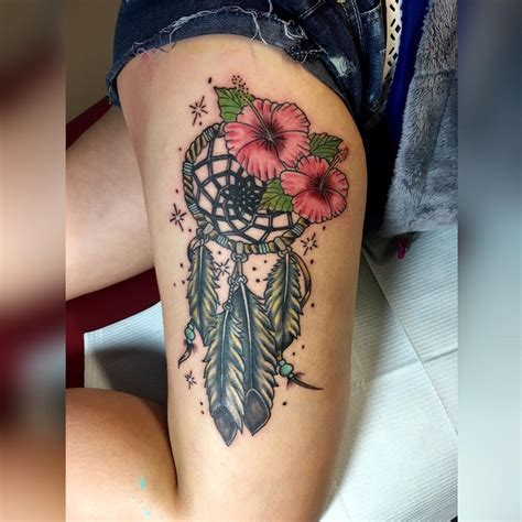 dream tattoo designs catcher with flowers flowers ideas for review