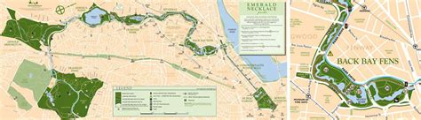 emerald necklace map the emerald necklace conservancy