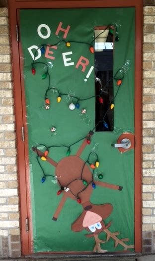 oh deer door decoration school door decorating contest s brain
