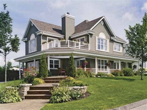 House Plans Country Style | country home house plans with porches country house wrap