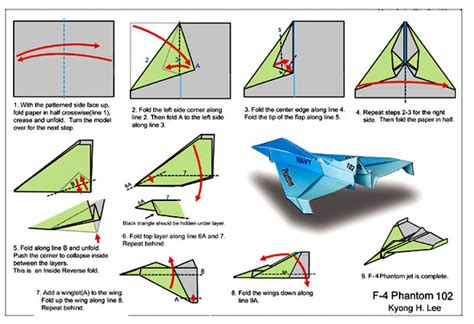 How To Make Paper Jet Step By Step - awesome f 4 phantom paper airoplane