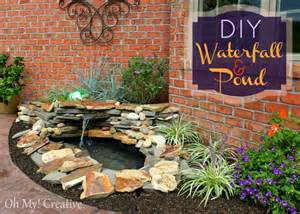 building a backyard water feature diy backyard pond landscape water feature ohmy