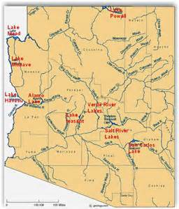 map of arizona rivers arizona rivers map