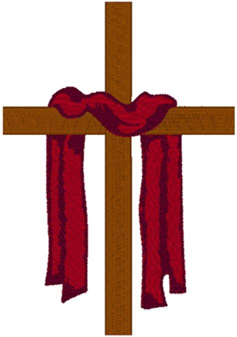 draped cross latin cross red robe 2 embroidery design