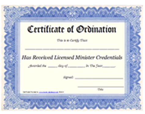 Ordination Certificate Templates Budget Template Free Minister License Template