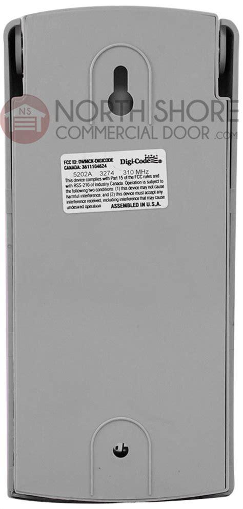Xtreme Garage Door Opener Keypad Digi Code Dc5202 Wireless Garage Door Opener Keypad