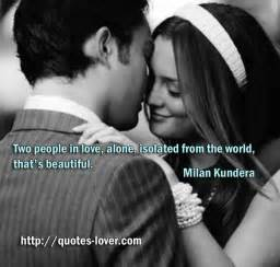 In Love With Two People Quotes by Two People In Love Alone Isolated From The World That S