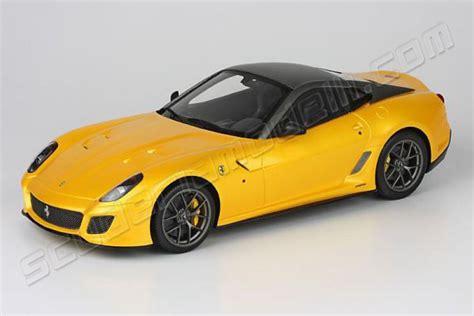BBR Models 2010 Ferrari Ferrari 599 GTO   YELLOW TRISTRATO