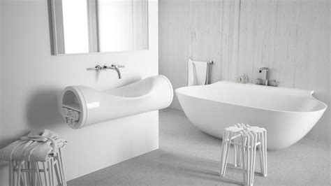 bathroom tubes chic hollow sink takes its shape from flattened tubes