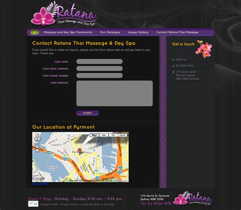 Fab Site Daszigncom by Website Design For Ratana Thai And Day Spa Gt Fab